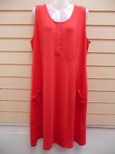 SHEEGO DRESS RED SIZE 20 SOFT JERSEY SLEEVELESS  BNWT  (G003