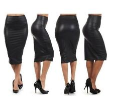 Unbranded Faux Leather Regular Size Skirts for Women