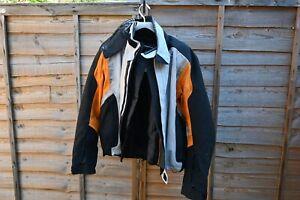 BMW Streetguard 3 Men's Motorcycle Jacket - Orange/Grey, Size 52