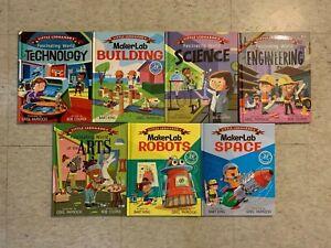 B13 LOT OF 7 Little Leonardo's Learning Books Science Technology HC VG Cond!