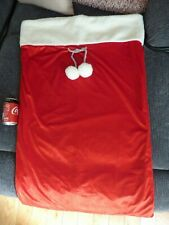 WHSmiths large red lined Christmas Santa sack (A)