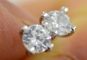 Classic silver tone 6mm diamond stud style zircon crystal stud earrings