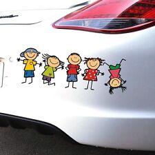 Funny Cute Family Kids Children Cartoon Boy Girl Car Sticker Window Body Decal