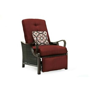 Hanover Ventura Luxury Recliner with Pillow Accessory, All-weather, Resin Wea...