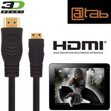 @tab Seven, 9.7, 10.1, 13.3 Tablet PC HDMI Mini to HDMI TV 5M Lead Wire Cable