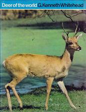 DEER OF THE WORLD G KENNETH WHITEHEAD BOOK 1972 1ST ED. 40 SPECIES OF DEER
