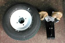 2 x 400 x 8 Trailer Wheels + 350kg Suspension units and 4 inch pcd hubs