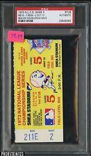 1973 N.L.C.S. Game 5 Ticket STUB Mets 7 Reds 2 Seaver Win McGraw Save PSA