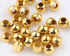 SILVER PLATED Bronze Gold Metal Round Ball SPACER BEADS 2.4mm 4mm 5mm 6mm 8mm