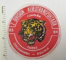 Bolivian Army 7 Airborne Tiger Company 1983-84 Patch Vintage Original Bolivia