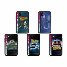 OFFICIAL BACK TO THE FUTURE I KEY ART BLACK HYBRID GLASS CASE FOR iPHONE PHONES