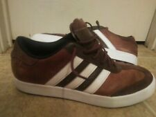 Mens Adidas Golf Spikeless Athletic Golf Shoes Size 9.0 Brown/white