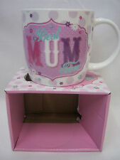 New BGC Fine China Mug Beaker Coffee Cup Tea Best Mum Ever KL0022
