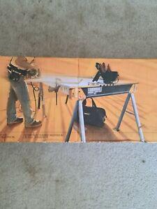 Jobsite Table, Durable, 100%Grade Steel, 41.5-Inch Easy Carry Handle - (TB-C550)