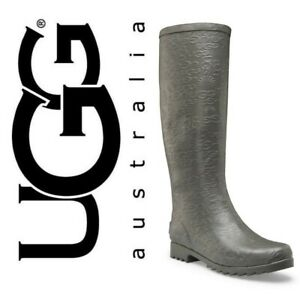 UGG Australia Wilshire Logo Brown Tall Boots Size 5