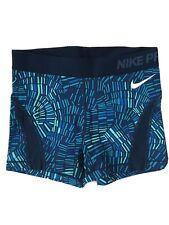 Nike Pro Dri Fit Training Running Shorts Balck With Green Tribal Print SMALL