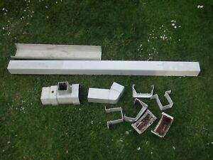 Assorted White Square profile Guttering,down pipe and brackets