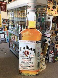 Jim Beam Whiskey Large Genuine Modern Corflute Sign Bottle Shaped