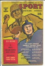 True Sport Picture Stories Vol. 3 #4 1945-WWII cover-Navy sports-football pla...