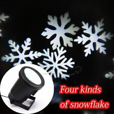 Outdoor LED Moving Snowflake Landscape Laser Projector Lamp Xmas Garden Light