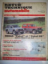 NISSAN Patrol et patrol GR (CITROËN AX FIAT Panda) -  Revue Technique Automobile