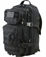 SMALL MOLLE CADET ASSAULT PACK 28 LITRE BAG RUCKSACK BACKPACK DAYSACK - BLACK