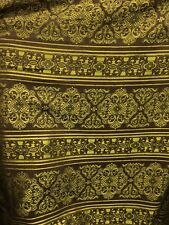 Brown Gold Damask Chenille Upholstery Fabric (54 in.) Sold Bty