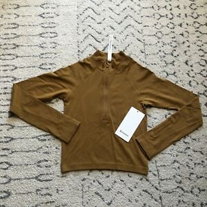 Lululemon Swiftly Tech 1/2 Zip 2.0 *Cool Spiced Bronze / Tuscan Gold, Size 4