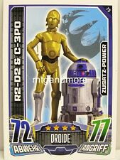 #075 r2-d2 & c-3po - STAR WARS REBEL Attax