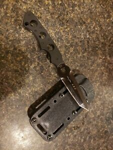 CRKT Hammond Dive Tactical Fixed Blad Knife  Handle Black Sheath