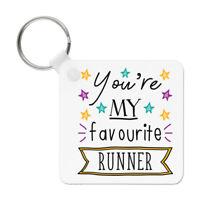 You're My Favourite Runner Stars Keyring Key Chain Funny Best Running Marathon