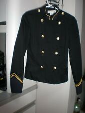 Women  Military STYLE Officer Jacket BLACK SIZE 2 USA  EMBELISHED BLAZER TOP