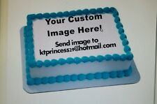 custom edible image cake topper