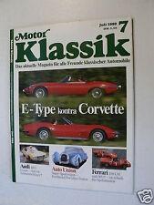 MOTOR KLASSIK 8907,IMME R100,JAGUAR E-TYPE,CORVETTE,AUDI 100S,FERRARI 250LM,365P