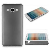 Samsung Galaxy J1 (2016) 360 GRAD RUNDUM SCHUTZ Metalloptik TPU Hülle Cover Case
