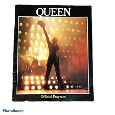 Queen Official Program Us Tour 1980 Queen Memorbilia Vintage 80's Band