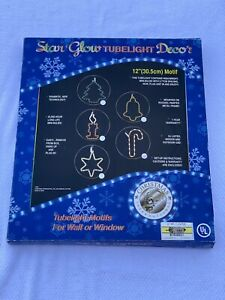 """STAR GLOW Tubelight Decor 12"""" CANDY CANE Rope Wall Window Motif 2001 NO LED"""