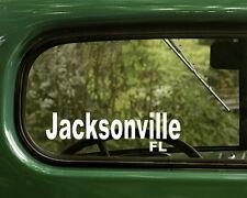 Jacksonville Florida Decal Sticker (2) Cars, Truck, Laptops