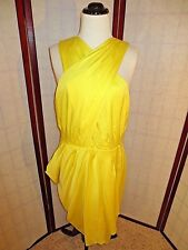 BR Banana Republic Monogram Yellow ANYA Sheath Dress 12 *NWT* $225
