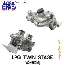 LPG TWIN STAGE CARAVAN GAS REGULATOR RV MOTORHOME-OR-HOMEUSE 250MJ