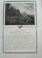 JAGD  L'Abreveuvoir Jäger Pferde Hunde Tränke  großer Kupferstich 1780 J.Miel