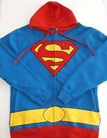 Superman Hooded Sweat Jacket, DC Comics, Zip Front, 3 Men's Sizes, FREE Shipping