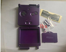 R Purple Full Housing Shell Case Cover Part f Nintendo GBA SP Gameboy Advance SP