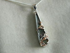 Clogau Silver & Welsh Gold Tudor Court Black Mother of Pearl Pendant RRP £149.00