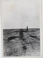 Notlandung einer He 111. Orig-Pressephoto, von 1941