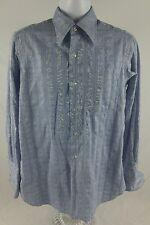 Vintage Custom Made Large Dress Shirt Ascot Chang Peninsula Hotel Embroidered