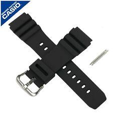 Genuino Reloj Correa de banda Casio para MDV-106 de 106 Negro 10391336