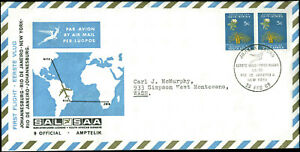 FFF SA-1 Johannesburg, South Africa to New York 2/23/69  South African Airways