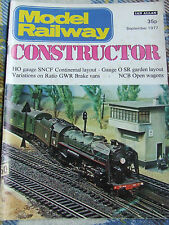 MODEL RAILWAY CONSTRUCTOR MAGAZINE SEP 1977 HO GAUGE GARDEN LAYOUT GWR BRAKE VAN