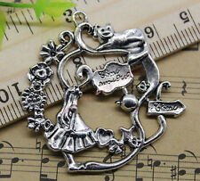Free Shipping 4pcs Jewelry Making Alice in wonderland Alloy Charm Pendant DIY